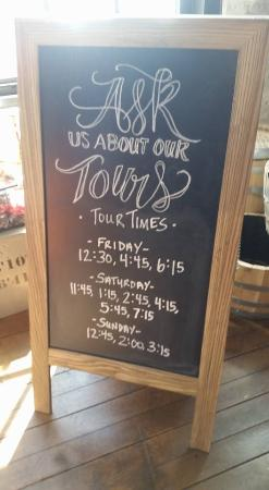 Three Oaks, MI: tours tatstings