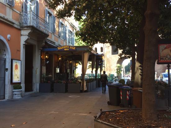 The famous Harry's Bar on the Via Veneto