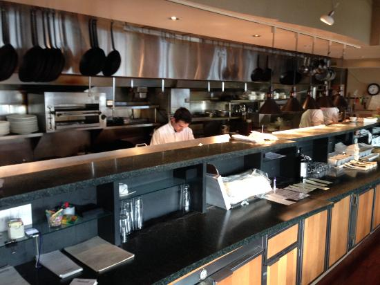 Keenan's at the Pier: Th open kitchen
