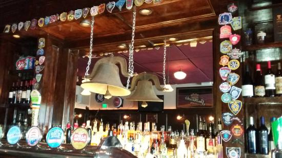 Wakefield, RI: The cool old bell at Mary Murphy's Irish Pub