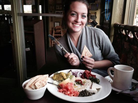 West Hartford, CT: My favorite girl having her favorite meal: Hummus Platter!
