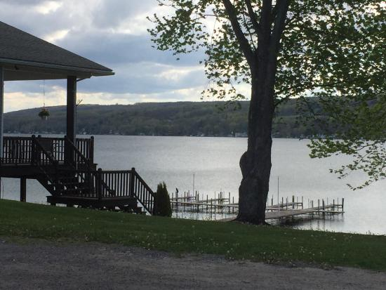 Top of the Lake: Back deck and boat slips