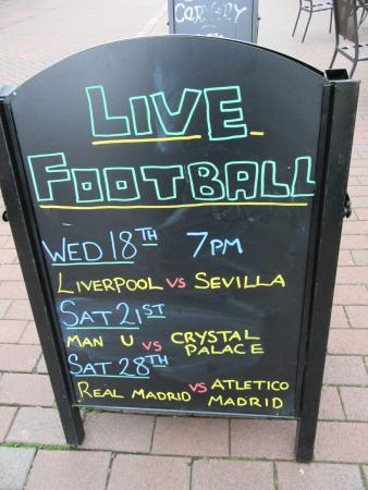 The New Inn: football night out