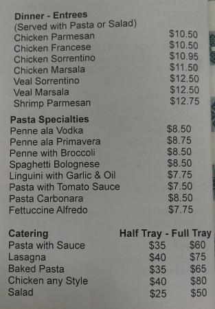 Papa Sorto's Pizza: menu