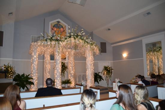 Ferguson Florist: inside the chapel