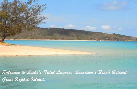 Svendsens Beach: Tidal lagoon, 35 minutes kayak paddle from Svendsen's Beach