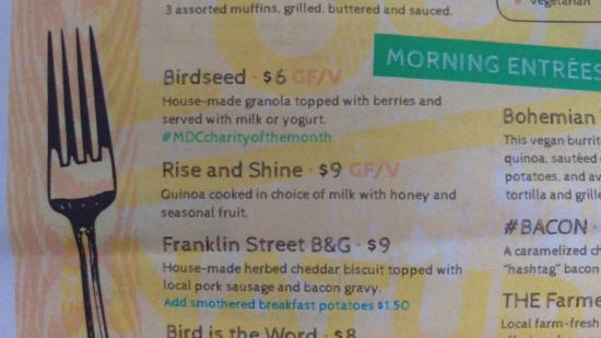 Liberty, MO: Meal Description