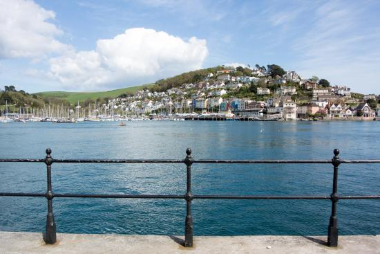 Dartmouth promenade with Kingswear in the background