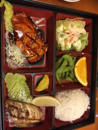 Hiro: Dragon roll, salmon and Saba lunch box