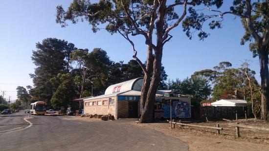 Seven Mile Beach: The local shop from car park