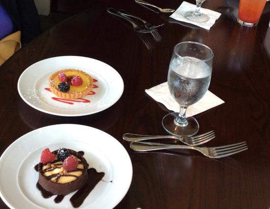 The Calcutta Grill: I think we ordered every dessert they had on the menu and loved them all.