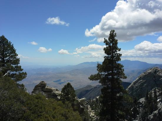 Idyllwild, CA: coachella valley from above