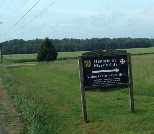 Saint Mary's City, MD: Welcome sign