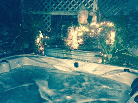 Casa del Sol Bed and Breakfast at Lake Travis: Moonlight Suite's Private Grotto Hot Tub