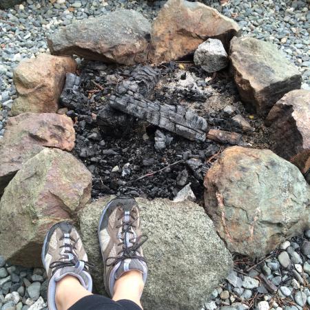 Ecoscape Cabins: Fire pit.