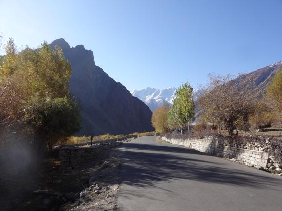 Kargil, India: main road