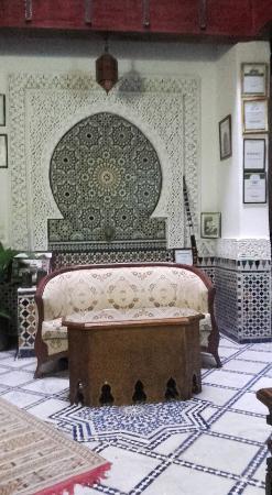 Dar el Yasmine: réception et salle de détente
