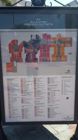 Ellenton Outlet Mall Map directory and layout of the mall   Picture of Ellenton Premium