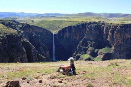 Semonkong, Lesoto: Maletsunyane Falls (highest in southern Africa) worth the 10km hike
