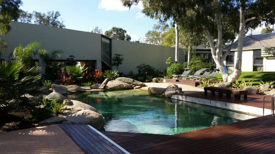 Geelong Conference Centre: Outdoor pool spa,decking in central garden