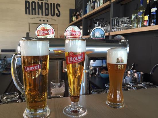 Bistro Rambus: lahodné pivko Erb a Litovel