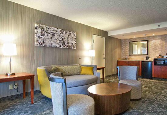 Blacksburg, VA: King Suite Living Room