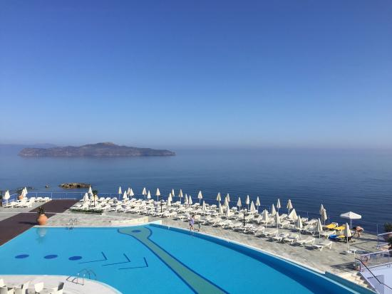 Panorama Hotel - Chania: (Partial) View from Deluxe sea view room