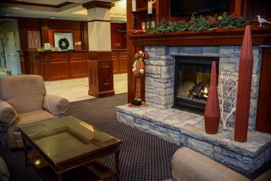 Hotel lobby fireplace - Picture of Hilton Garden Inn Lexington ...