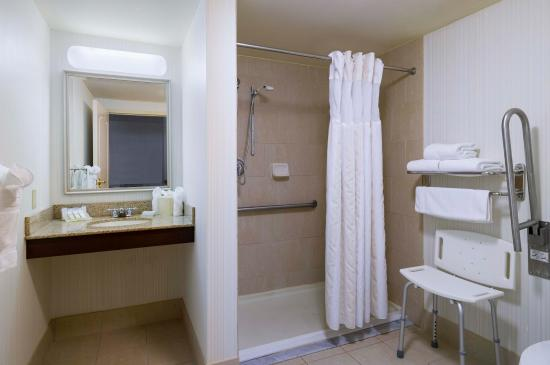 Glastonbury, CT: Accessible Bathroom with Roll-in Shower