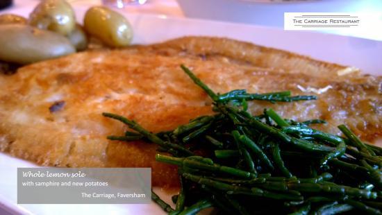 Faversham, UK: Lemon sole, samphire and new potatoes