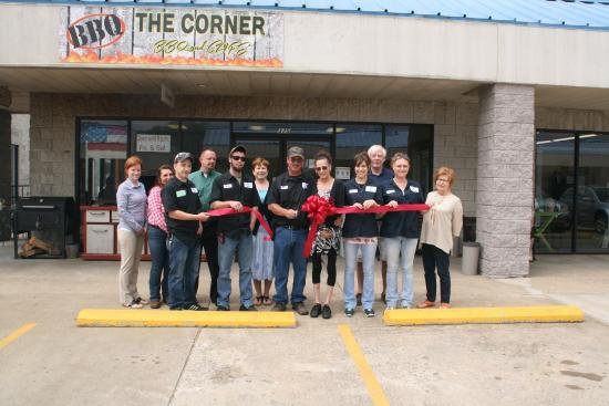 Chamber of Commerce Ribbon cutting @ The Corner BBQ & Cafe inside the Eddyville Mall