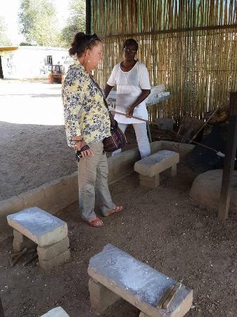 Windhoek, Namibia: Jenni, Australian visitor at Penduka