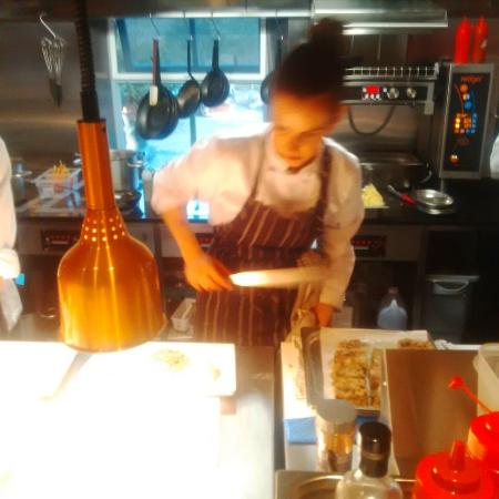 Leenane, Irlanda: Elena working hard !! and inspired !