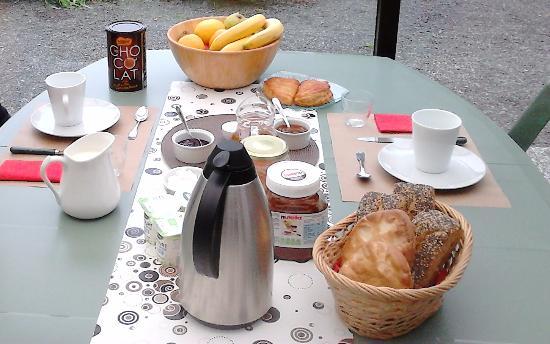 La Croix Galliot : petit déjeuner copieux...