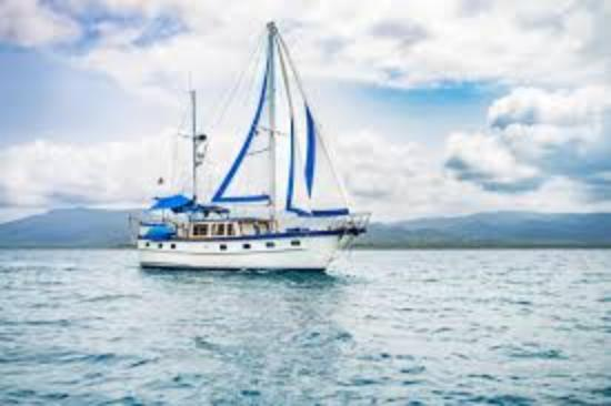 San Blas Islands, Panama: Blue Sky under sail