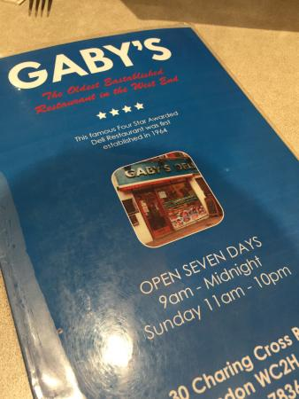 Gaby's Deli : Salted Beef Sandwich and Hummus.