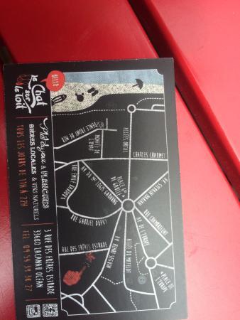 Le Chat Sur Toit Carte De Visite