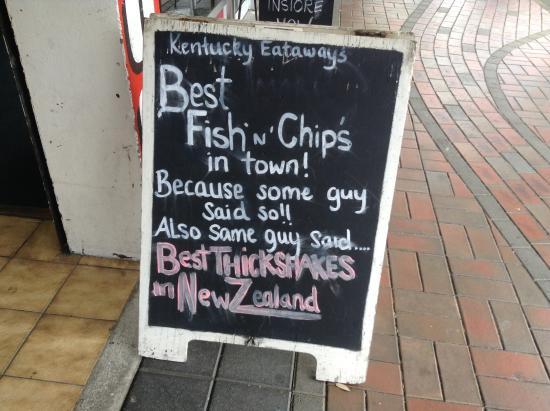 Kentucky Eataways: Check the chalkboard specials.