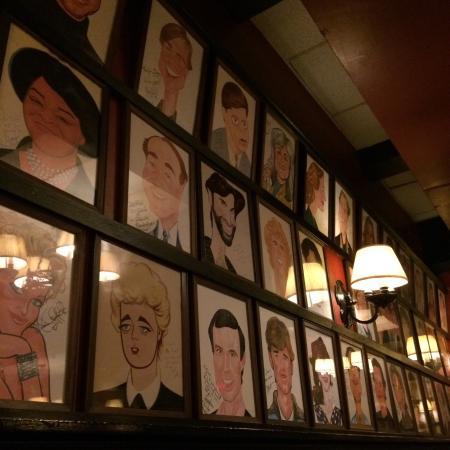 Sardis Restaurant Angela Lansbury Cartoon Inside