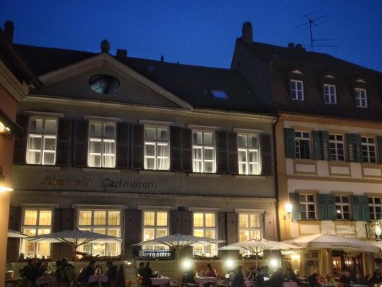 """Alt-Ringlein: View from the hotel """"Biergarten"""""""