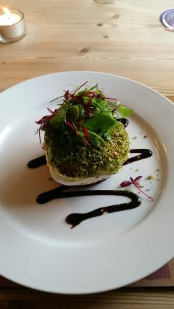 """The Harp Inn : Mediterranean Roasted Veg with Goat's Cheese in a """"Herb Crumb""""! - totally delicious"""