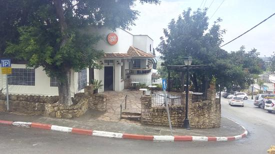 cafe cafe at habiluim street gedera, day time