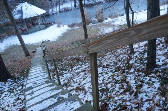 Rosendale, NY: Stairway to our expansive outdoor property