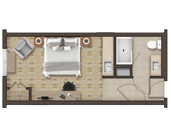 Canonsburg, Pensilvania: Non-Suite Floor Plan