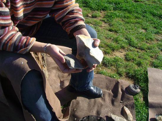 Paleosite: Taille de silex