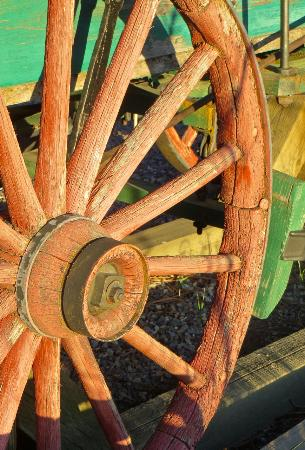 Shafer Historical Museum: Wagon wheel