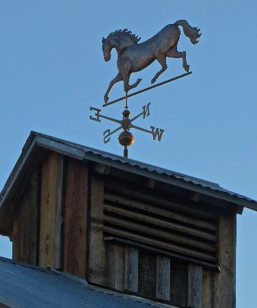 Shafer Historical Museum: Weather vane on top of old barn