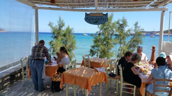 Très agréable terrasse du restaurant Cyclades
