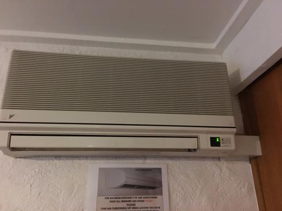 A Very Old Air Conditioning Unit Picture Of Golden Leaf