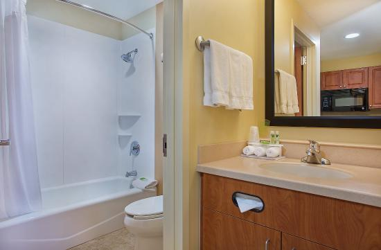 Fort Knox, KY: One Queen Bed Studio Suite Bathroom